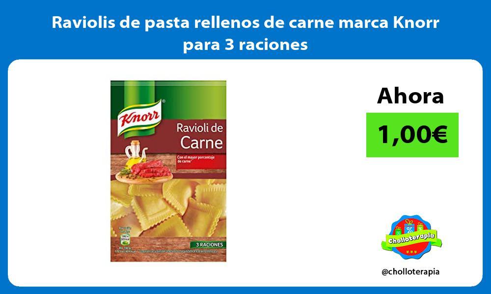 Raviolis de pasta rellenos de carne marca Knorr para 3 raciones
