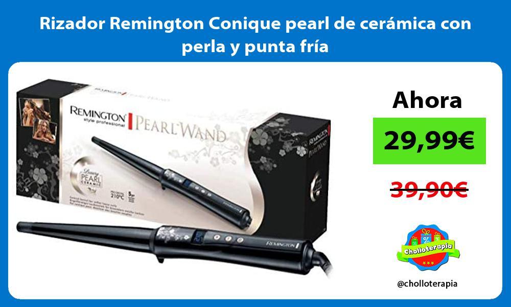 Rizador Remington Conique pearl de cerámica con perla y punta fría