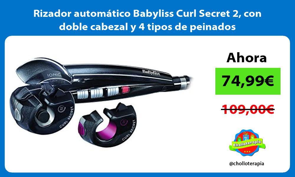 Rizador automático Babyliss Curl Secret 2 con doble cabezal y 4 tipos de peinados