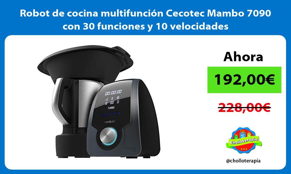 Robot de cocina multifunción Cecotec Mambo 7090 con 30 funciones y 10 velocidades