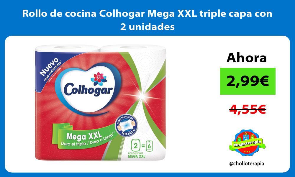 Rollo de cocina Colhogar Mega XXL triple capa con 2 unidades