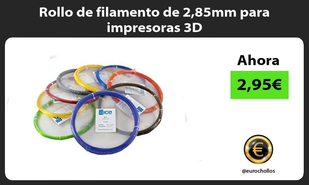 Rollo de filamento de 285mm para impresoras 3D