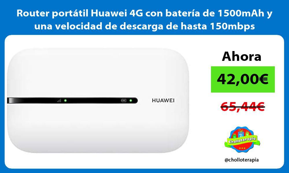 Router portátil Huawei 4G con batería de 1500mAh y una velocidad de descarga de hasta 150mbps