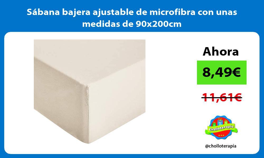Sábana bajera ajustable de microfibra con unas medidas de 90x200cm