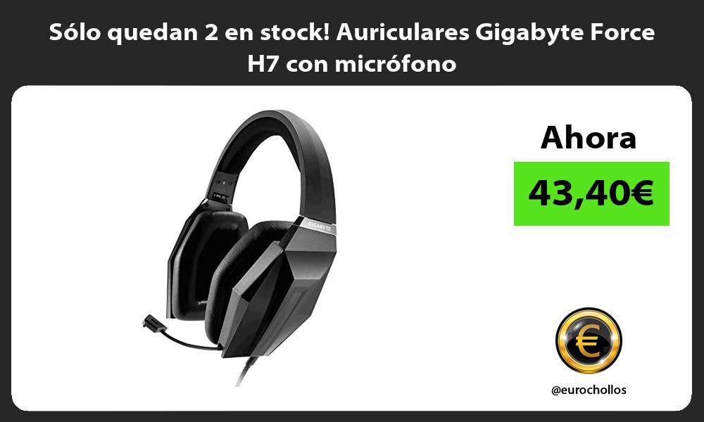 Sólo quedan 2 en stock Auriculares Gigabyte Force H7 con micrófono