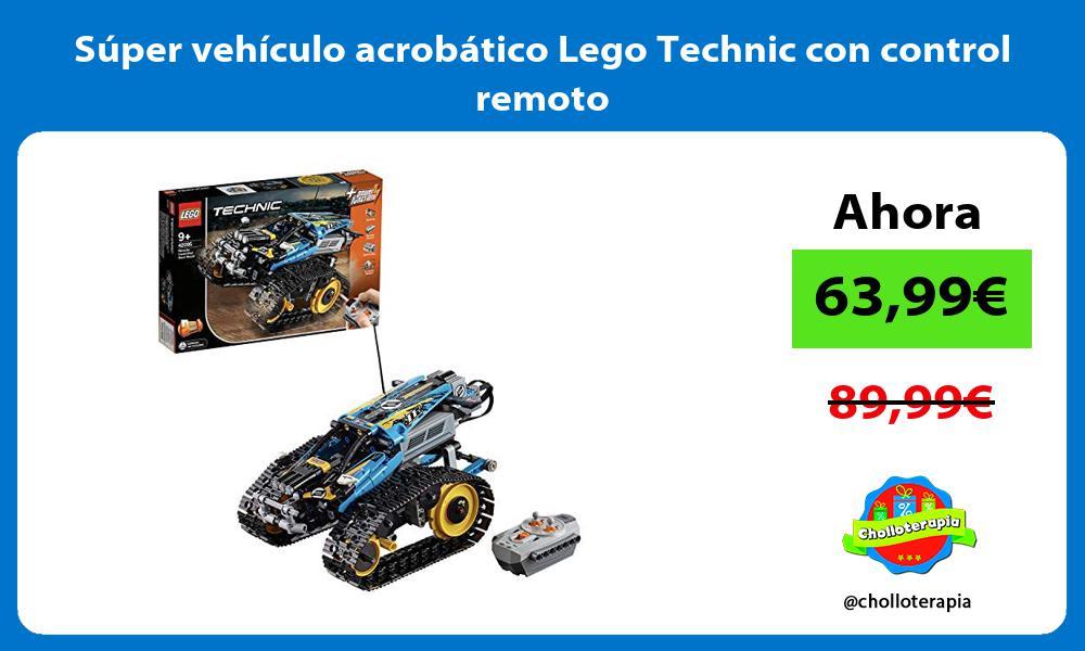 Súper vehículo acrobático Lego Technic con control remoto