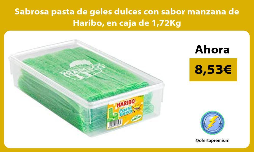 Sabrosa pasta de geles dulces con sabor manzana de Haribo en caja de 172Kg