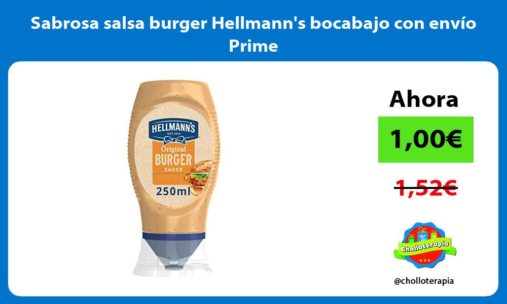 Sabrosa salsa burger Hellmanns bocabajo con envío Prime