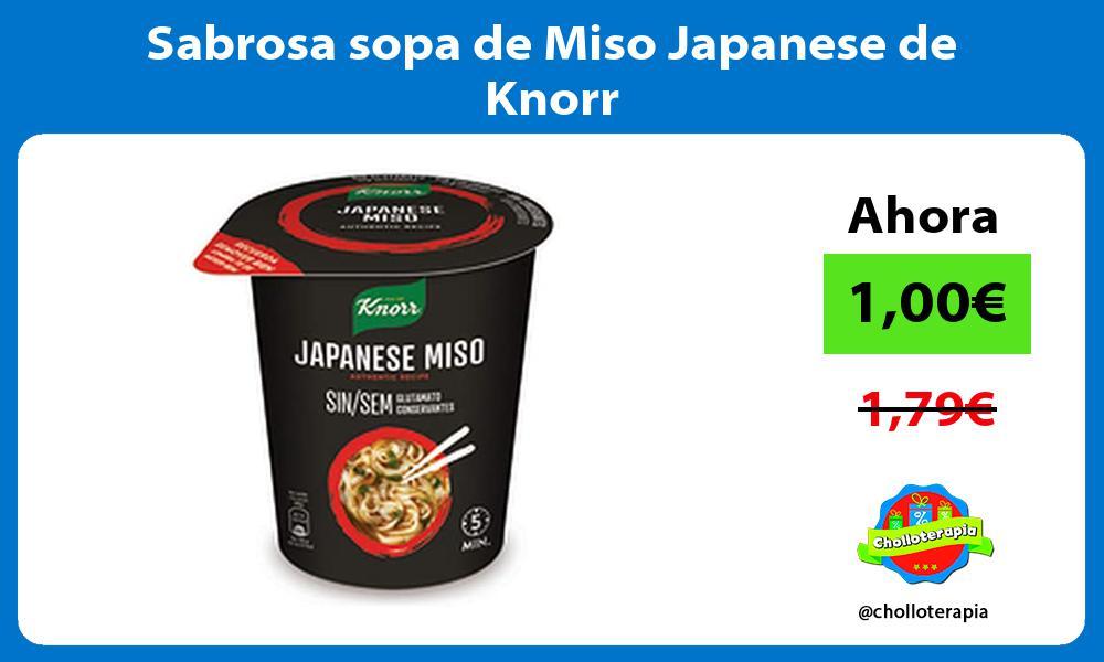 Sabrosa sopa de Miso Japanese de Knorr