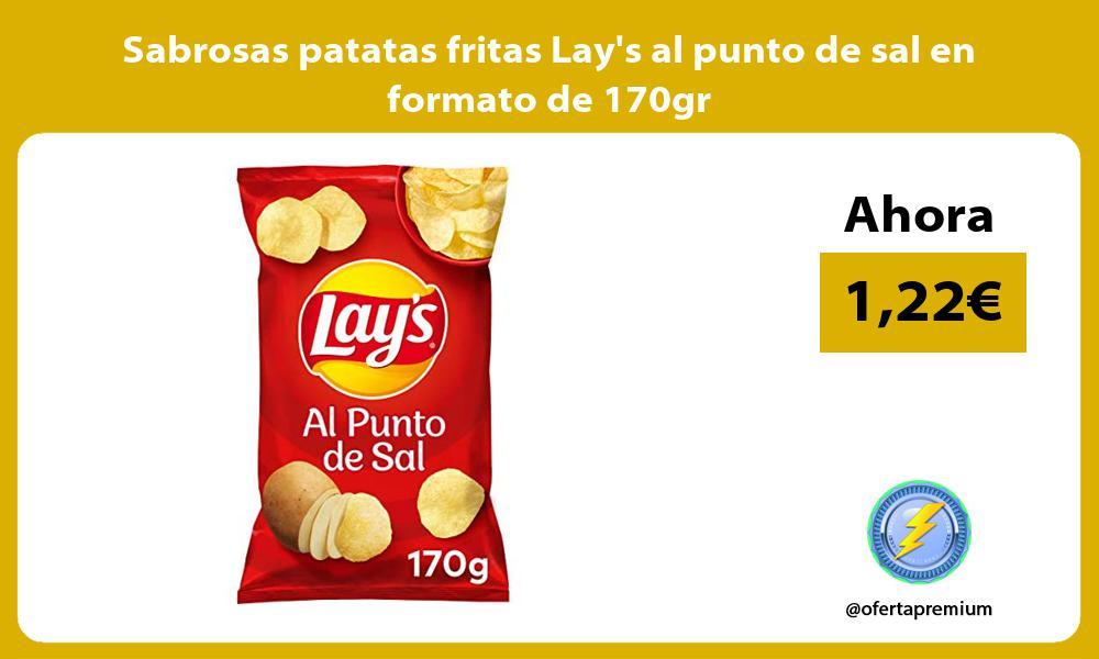 Sabrosas patatas fritas Lays al punto de sal en formato de 170gr