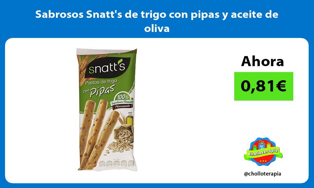 Sabrosos Snatts de trigo con pipas y aceite de oliva