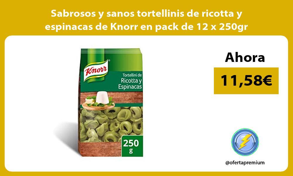 Sabrosos y sanos tortellinis de ricotta y espinacas de Knorr en pack de 12 x 250gr