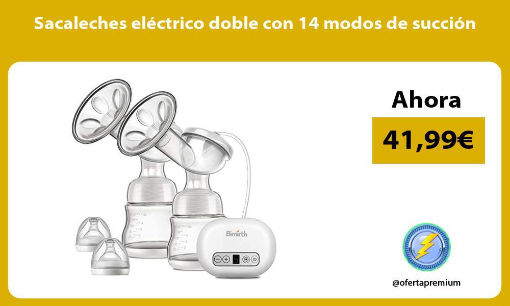 Sacaleches eléctrico doble con 14 modos de succión