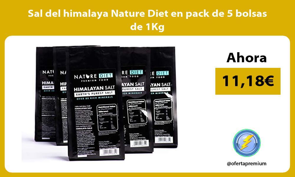 Sal del himalaya Nature Diet en pack de 5 bolsas de 1Kg