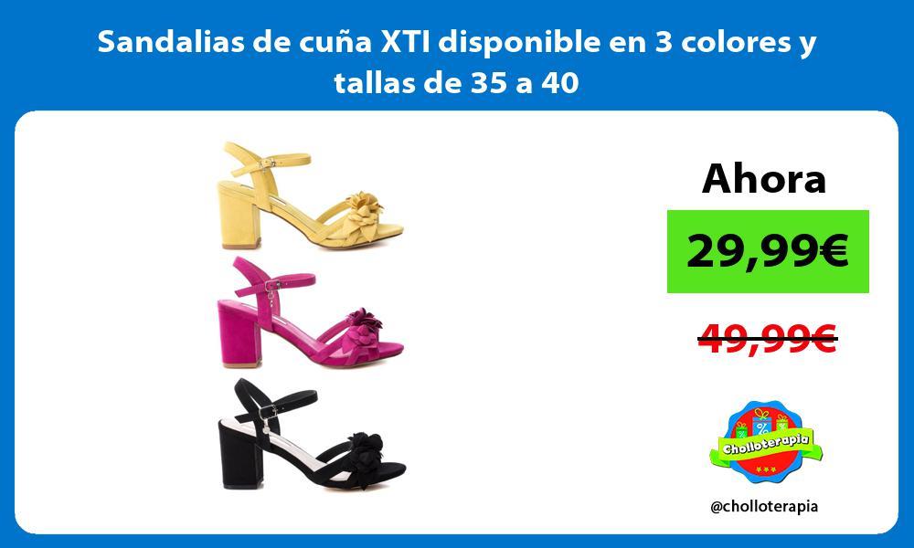 Sandalias de cuña XTI disponible en 3 colores y tallas de 35 a 40