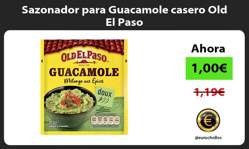 Sazonador para Guacamole casero Old El Paso