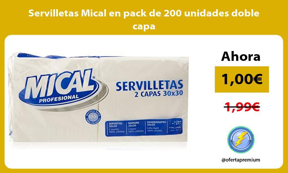 Servilletas Mical en pack de 200 unidades doble capa