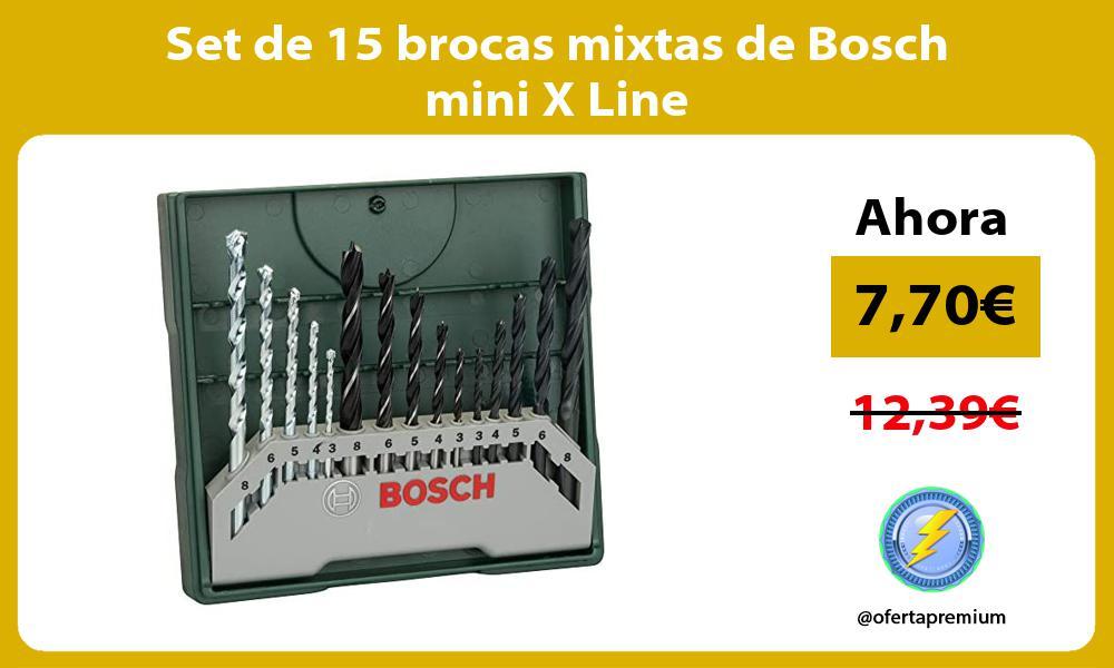 Set de 15 brocas mixtas de Bosch mini X Line