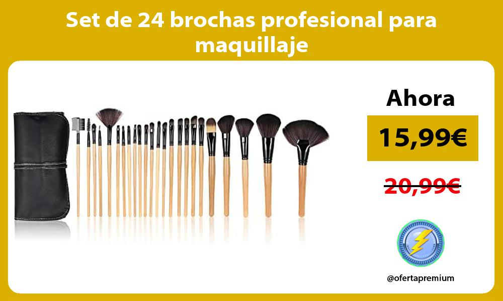 Set de 24 brochas profesional para maquillaje