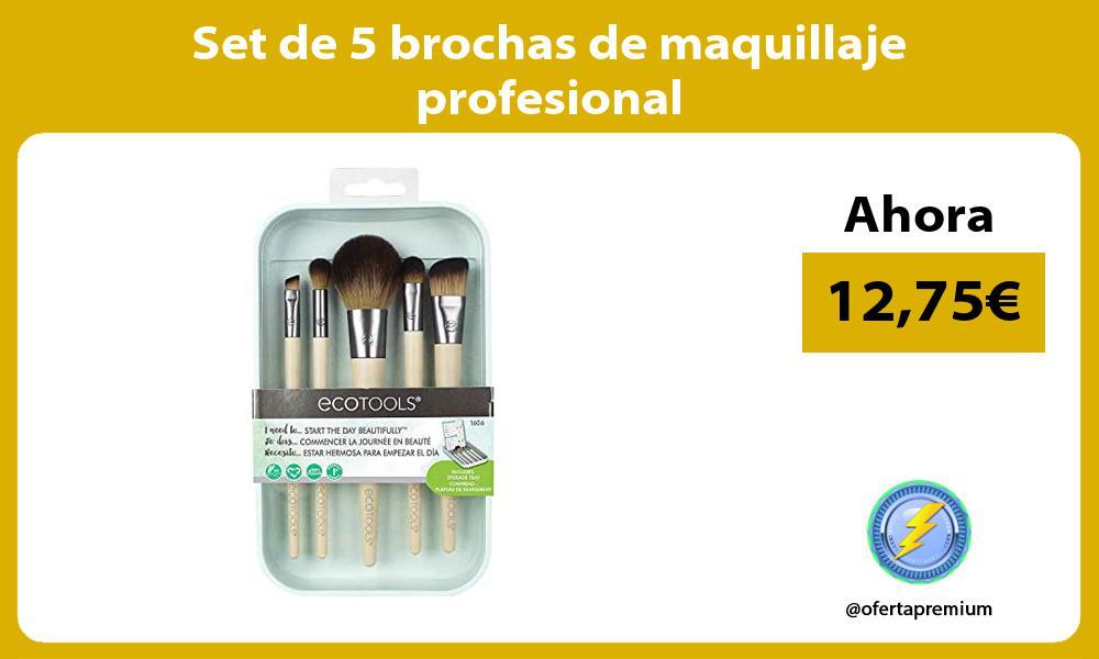 Set de 5 brochas de maquillaje profesional