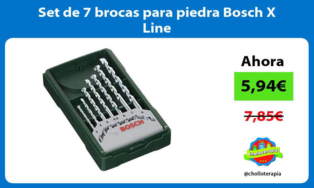 Set de 7 brocas para piedra Bosch X Line