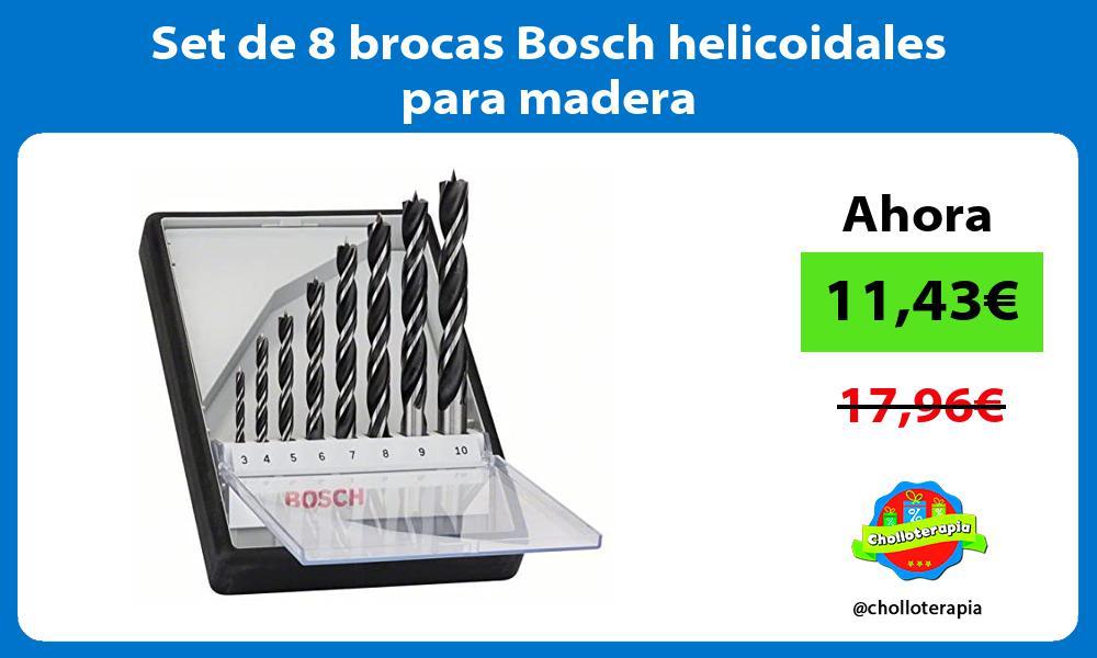 Set de 8 brocas Bosch helicoidales para madera