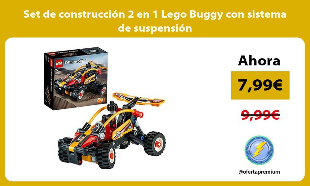 Set de construcción 2 en 1 Lego Buggy con sistema de suspensión