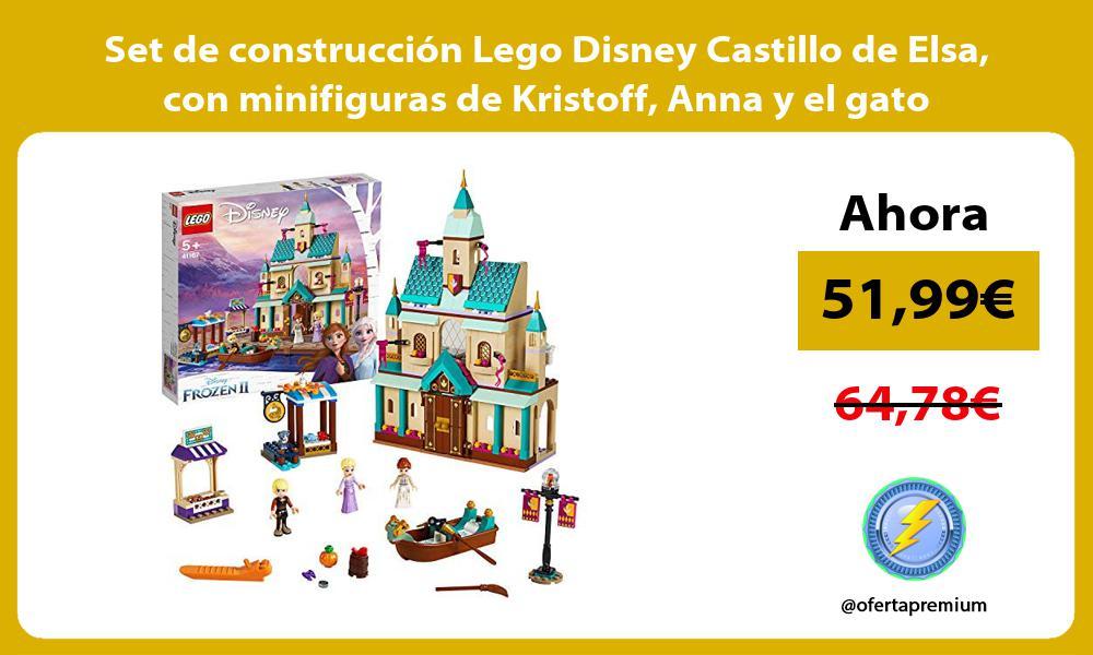 Set de construcción Lego Disney Castillo de Elsa con minifiguras de Kristoff Anna y el gato