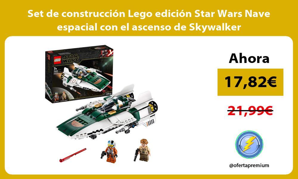 Set de construcción Lego edición Star Wars Nave espacial con el ascenso de Skywalker