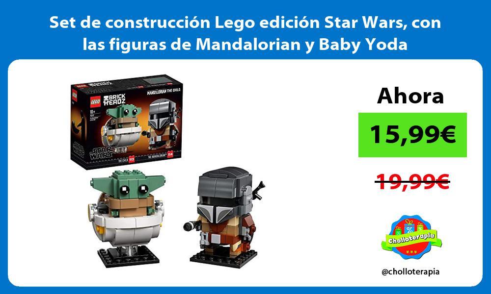 Set de construcción Lego edición Star Wars con las figuras de Mandalorian y Baby Yoda