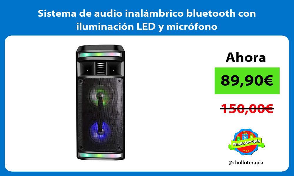 Sistema de audio inalámbrico bluetooth con iluminación LED y micrófono