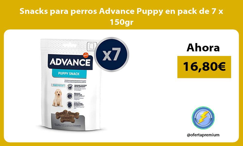 Snacks para perros Advance Puppy en pack de 7 x 150gr