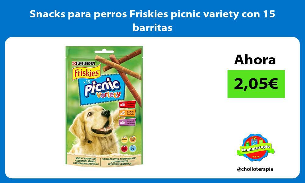 Snacks para perros Friskies picnic variety con 15 barritas