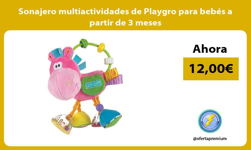 Sonajero multiactividades de Playgro para bebés a partir de 3 meses