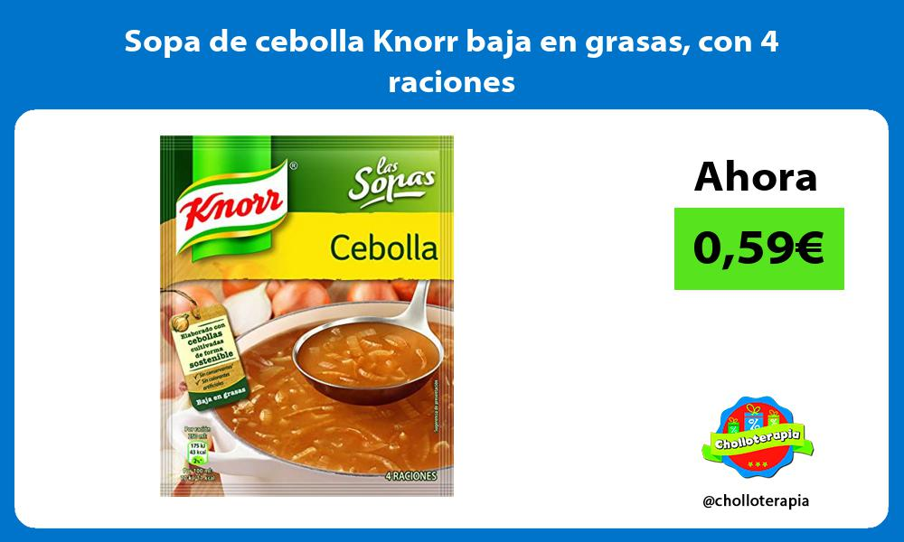Sopa de cebolla Knorr baja en grasas con 4 raciones