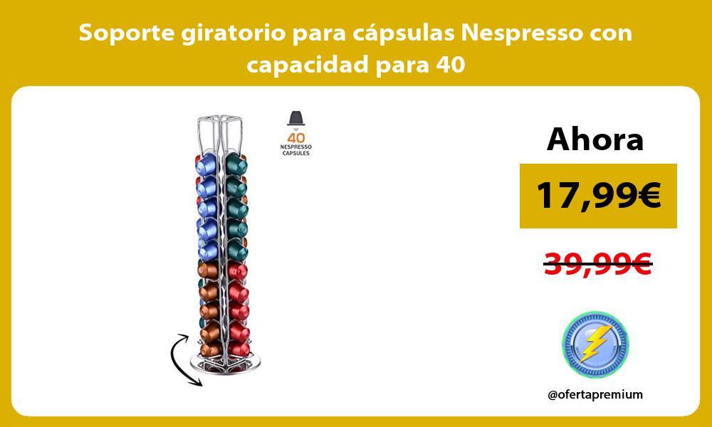Soporte giratorio para cápsulas Nespresso con capacidad para 40