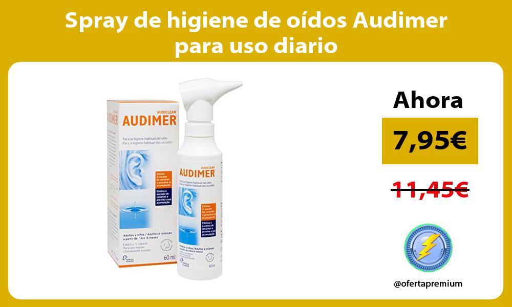 Spray de higiene de oídos Audimer para uso diario
