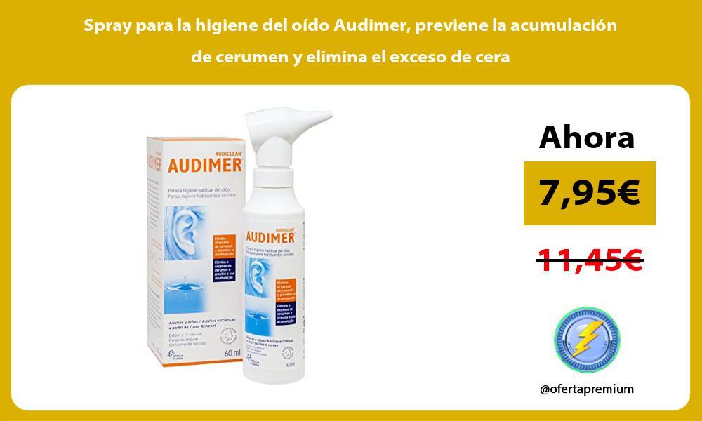 Spray para la higiene del oído Audimer previene la acumulación de cerumen y elimina el exceso de cera