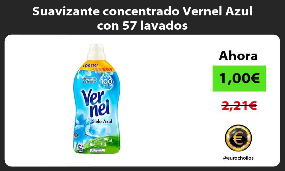 Suavizante concentrado Vernel Azul con 57 lavados
