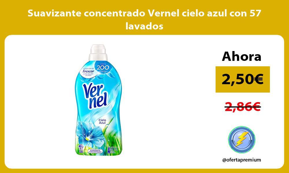 Suavizante concentrado Vernel cielo azul con 57 lavados