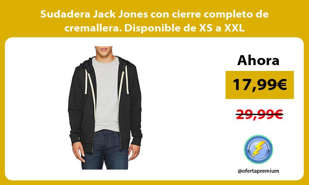 Sudadera Jack Jones con cierre completo de cremallera Disponible de XS a XXL
