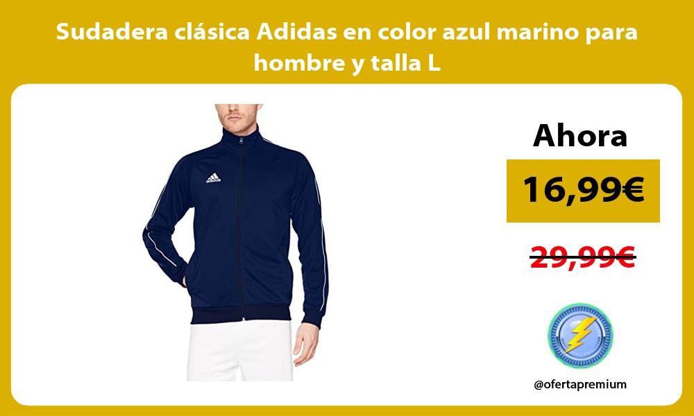 Sudadera clásica Adidas en color azul marino para hombre y talla L