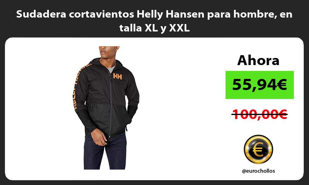 Sudadera cortavientos Helly Hansen para hombre en talla XL y XXL