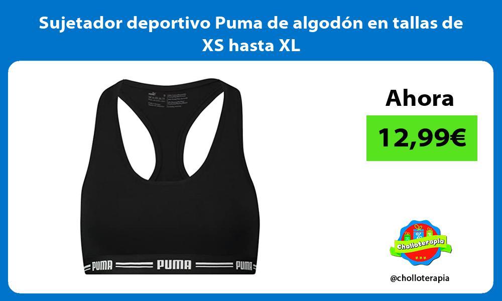 Sujetador deportivo Puma de algodón en tallas de XS hasta XL