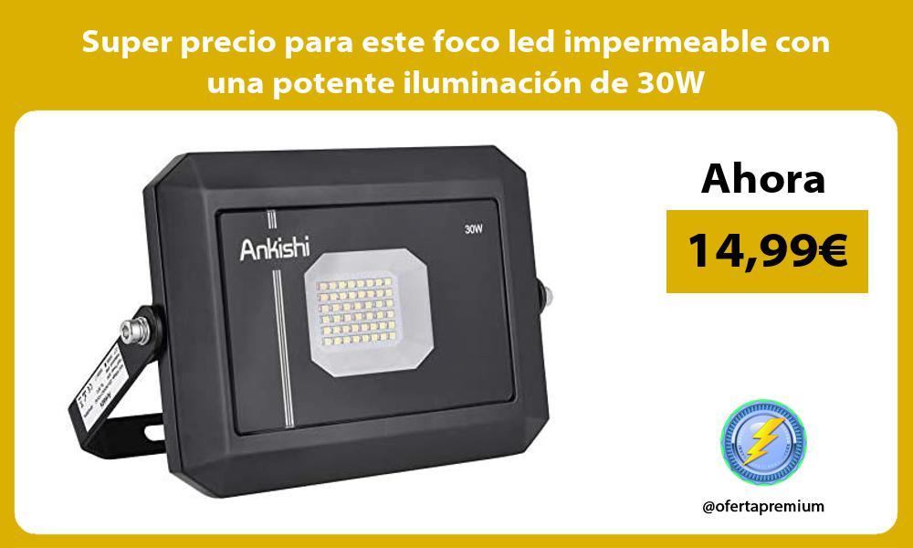 Super precio para este foco led impermeable con una potente iluminación de 30W