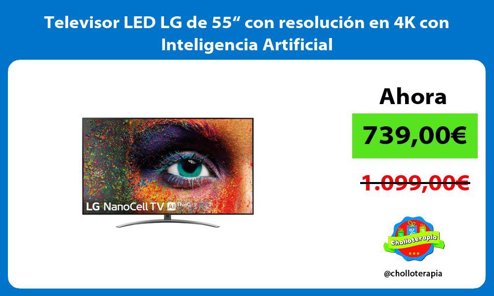 """Televisor LED LG de 55"""" con resolución en 4K con Inteligencia Artificial"""