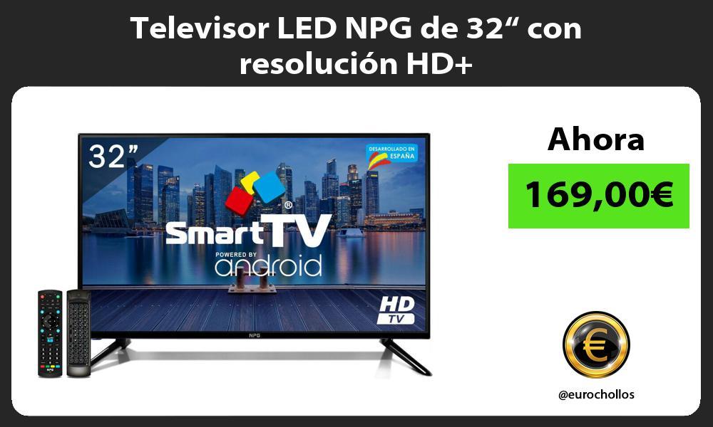"""Televisor LED NPG de 32"""" con resolución HD"""