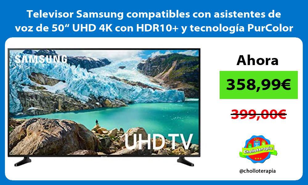 """Televisor Samsung compatibles con asistentes de voz de 50"""" UHD 4K con HDR10 y tecnología PurColor"""