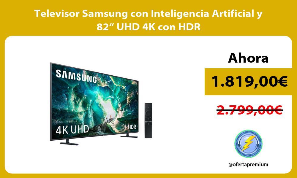 """Televisor Samsung con Inteligencia Artificial y 82"""" UHD 4K con HDR"""