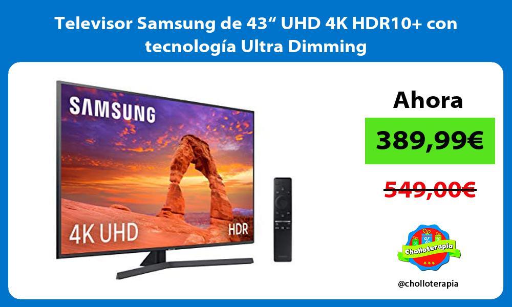 """Televisor Samsung de 43"""" UHD 4K HDR10 con tecnología Ultra Dimming"""